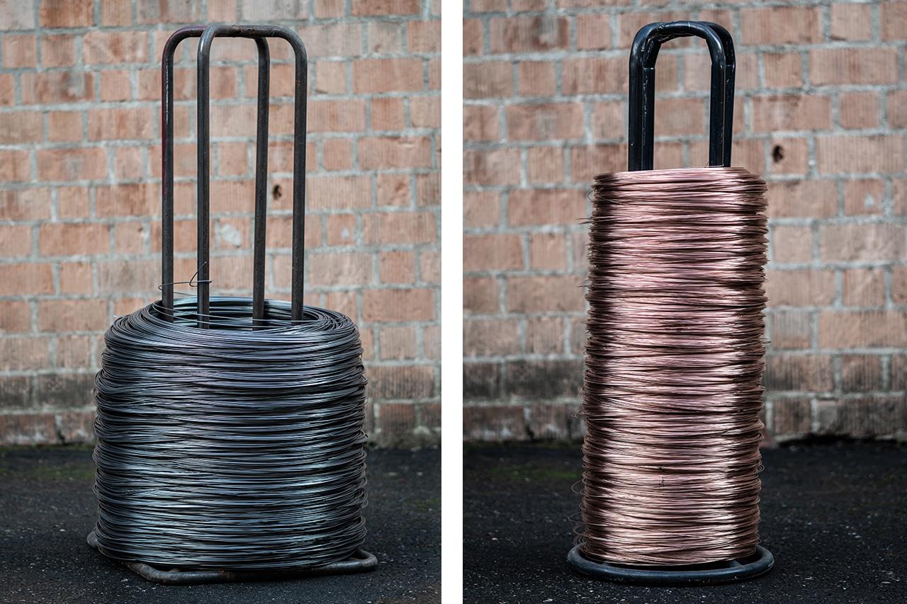 bobina di filo di ferro